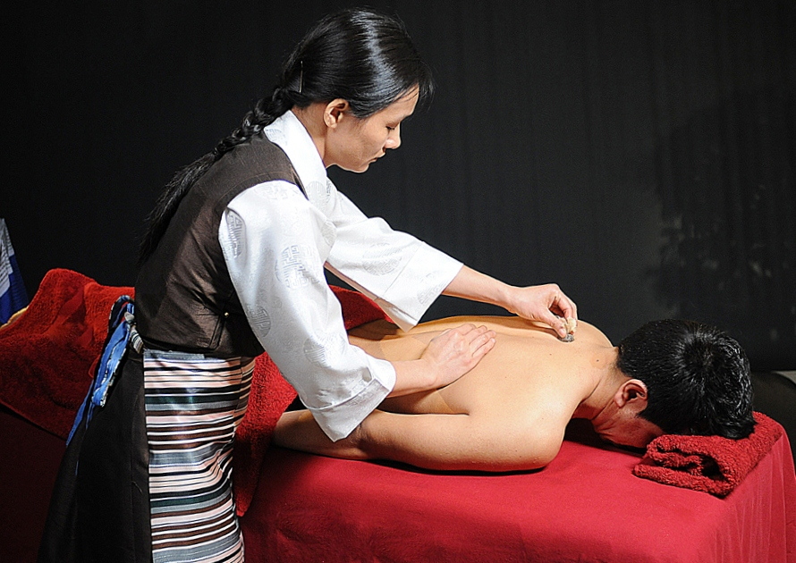 Hor Me moxibustion Terapia Externa de Medicina Tibetana