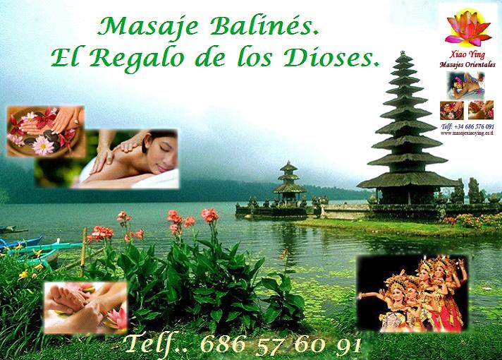 masaje balinés tradicional en oferta