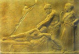 masaje en la Grecia clásica