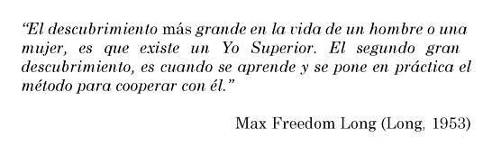 cita de Max Freedom Long