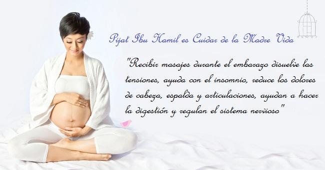 terapia de masaje realizado durante y después del embarazo